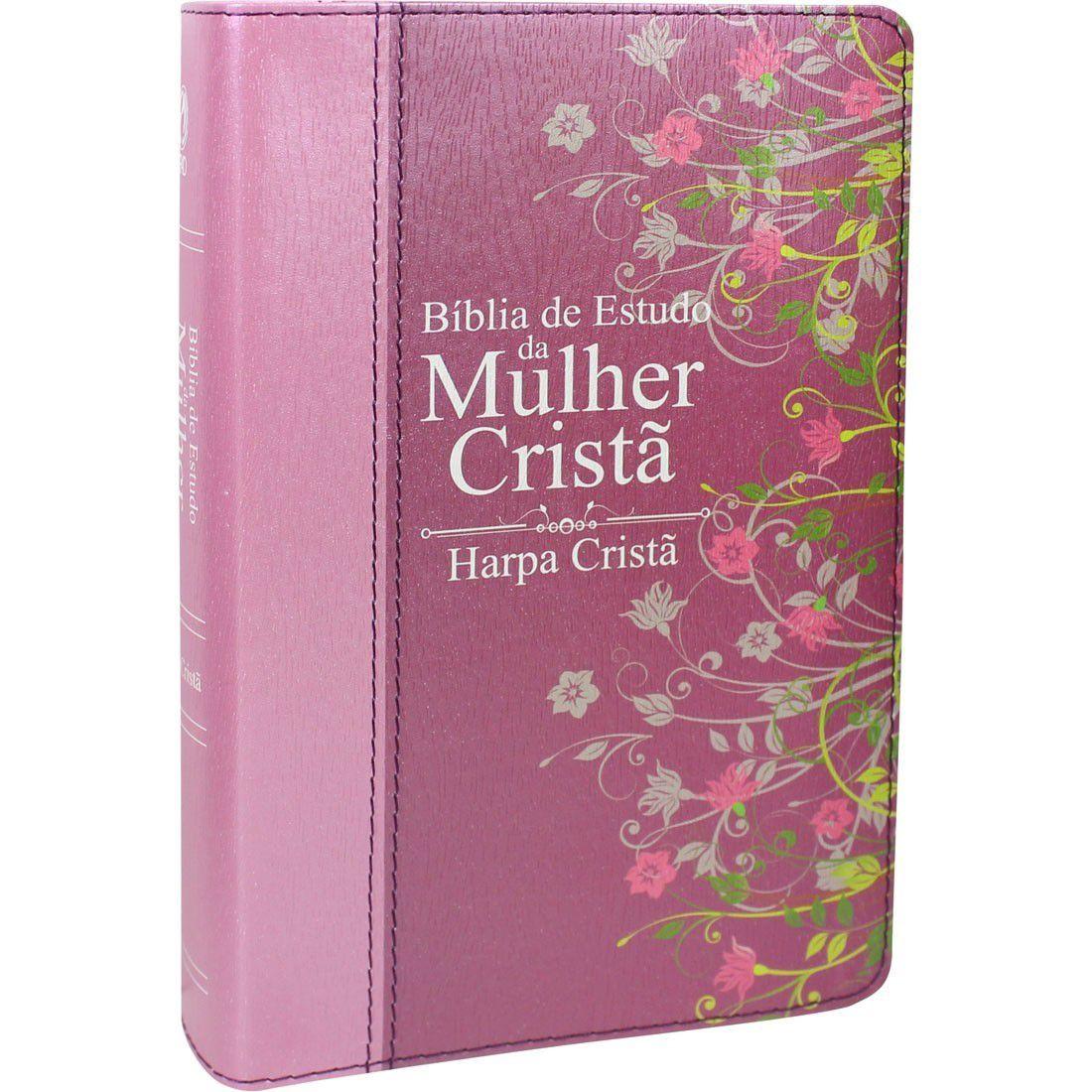 Bíblia de Estudo da Mulher Cristã Média C/ Harpa
