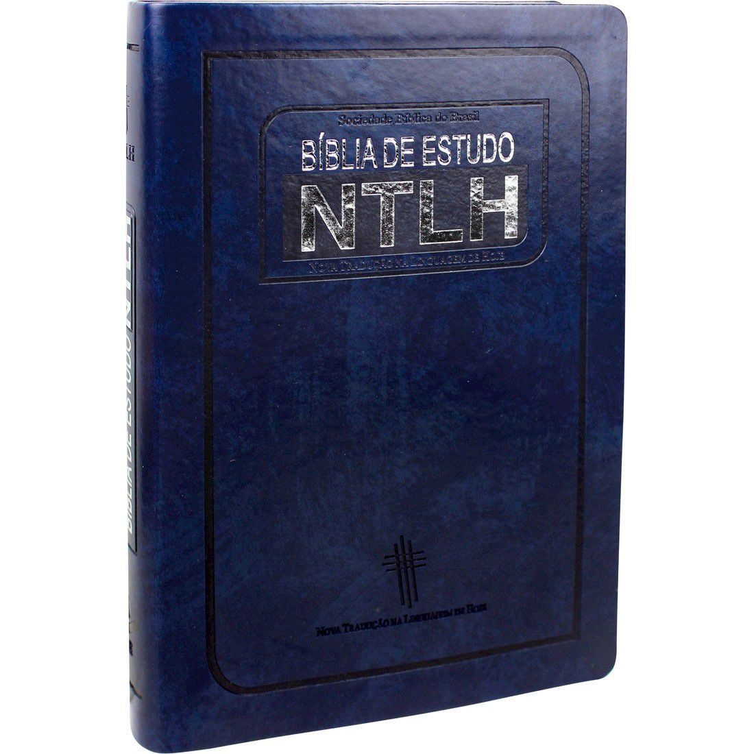 Bíblia de Estudo Média NTLH - Azul Nobre