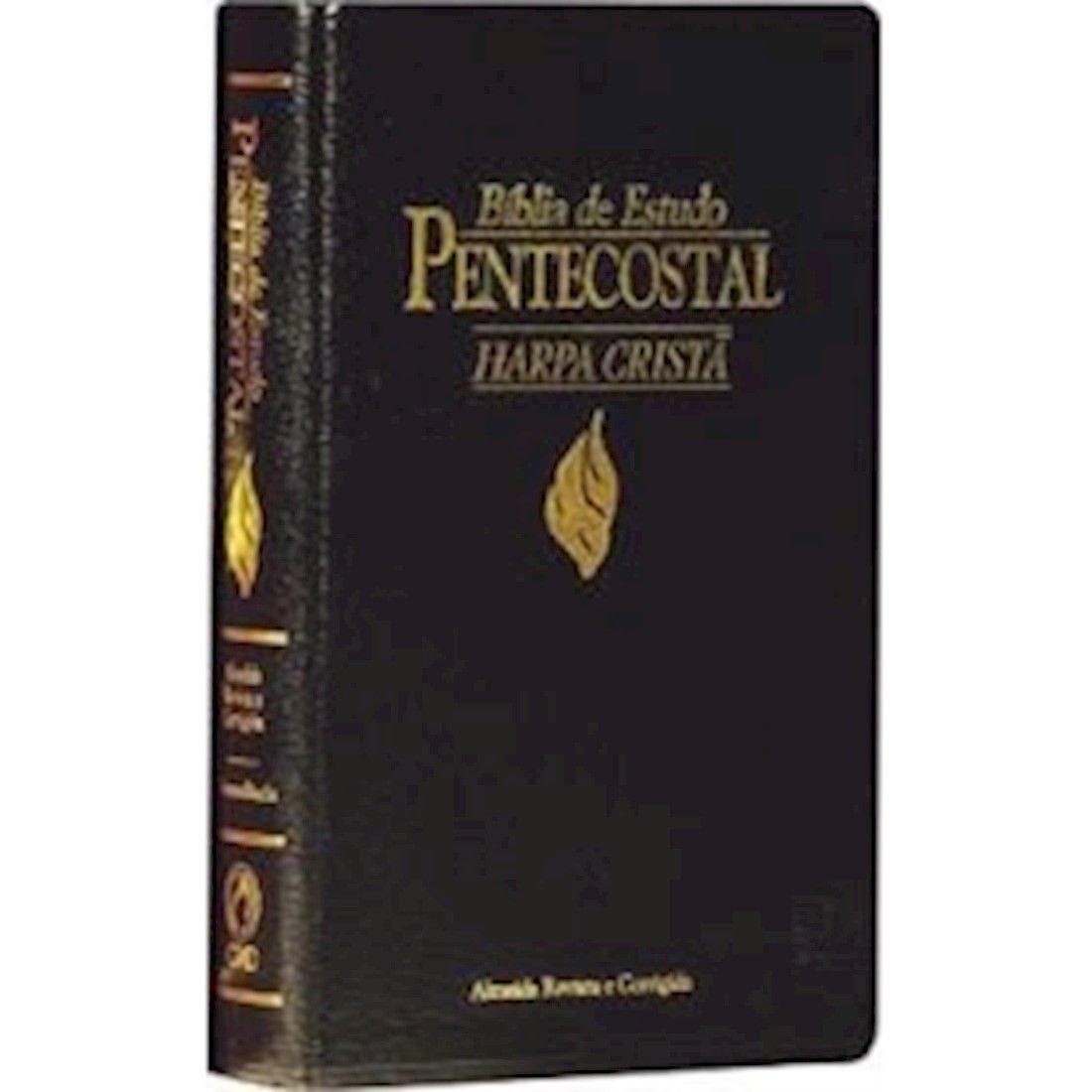 Bíblia de Estudo Pentecostal Pequena - Com Harpa Cristã