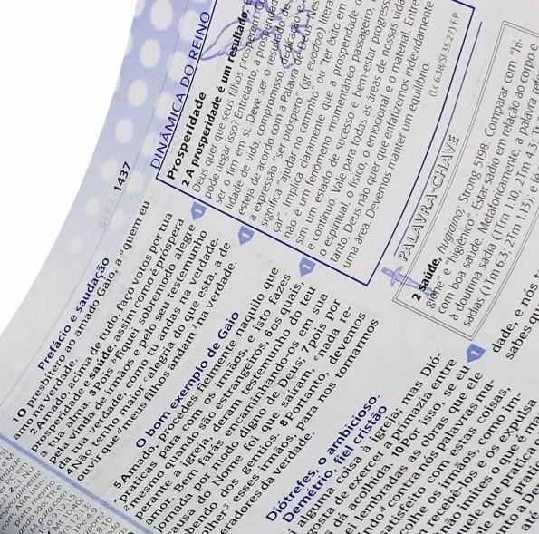 Bíblia de Estudo Plenitude Capa Bicolor Preta e Azul
