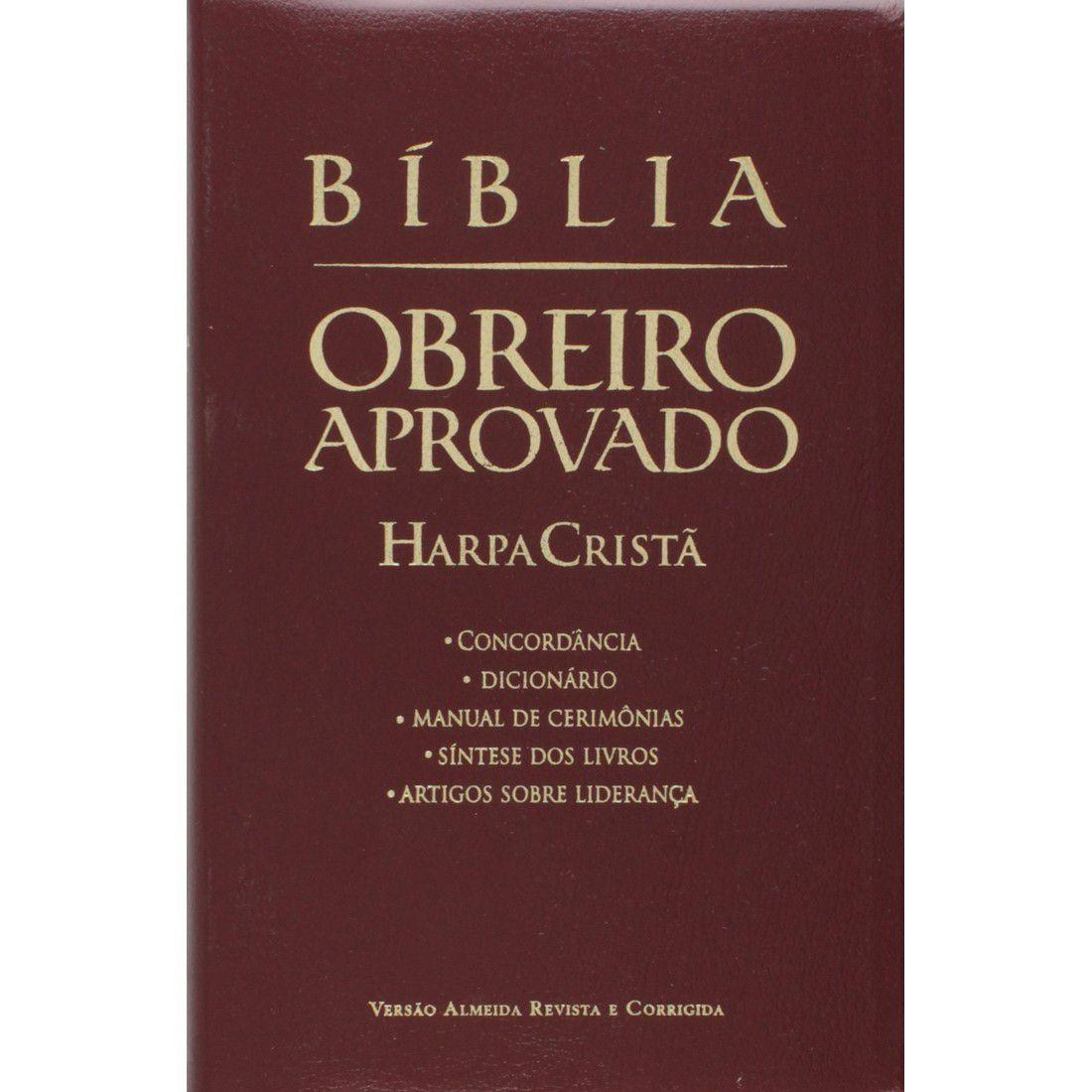 Bíblia do Obreiro Aprovado Com Harpa Cristã Média Luxo