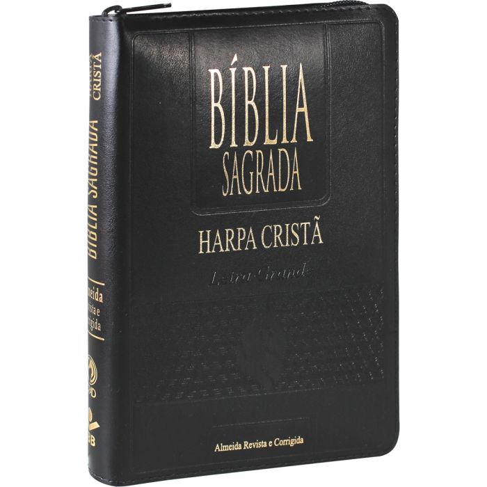Bíblia Letra Grande Com Harpa Cristã Zíper