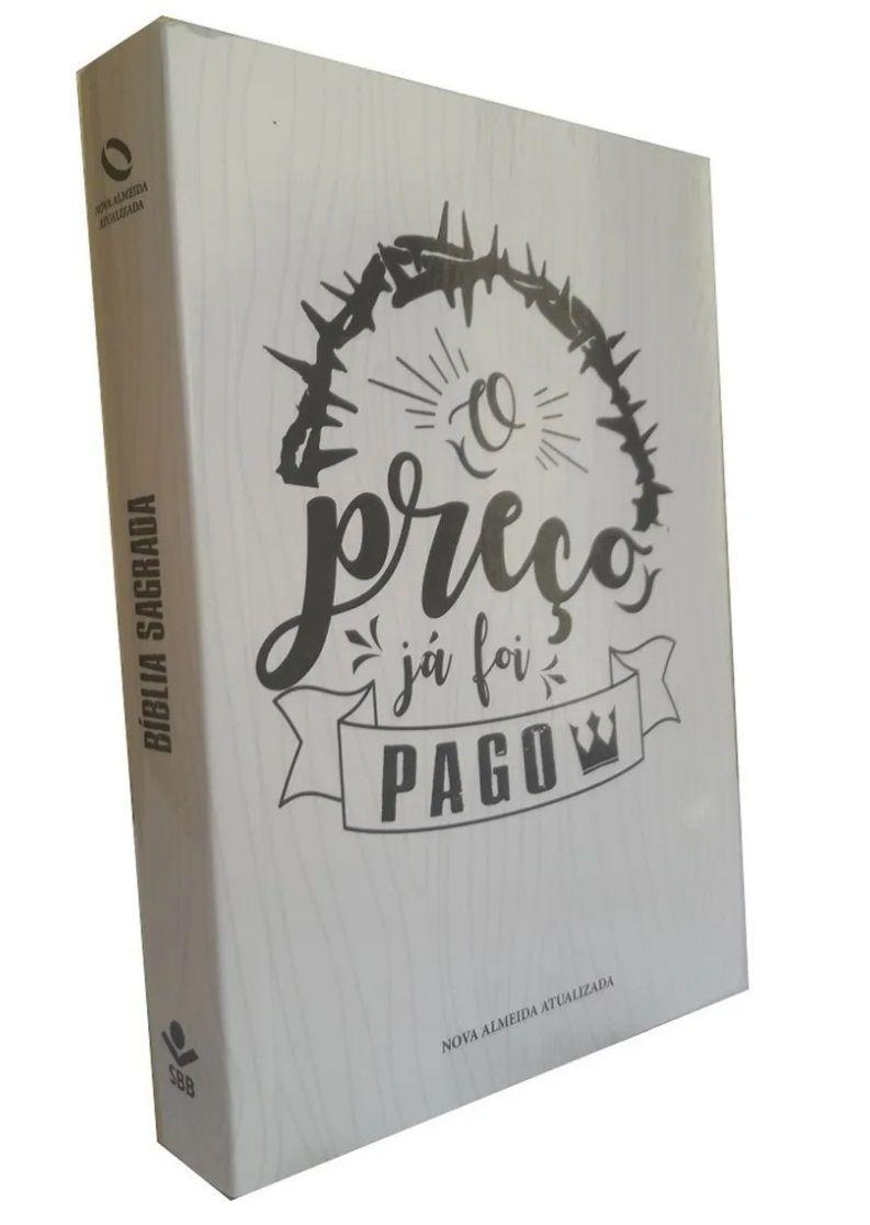 Bíblia NAA Brochura (Exclusiva Casa da Bíblia Online) - O Preço Já Foi Pago - Branca