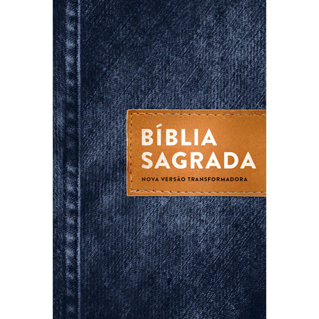 Bíblia NVT Letra Normal - Jeans Básico