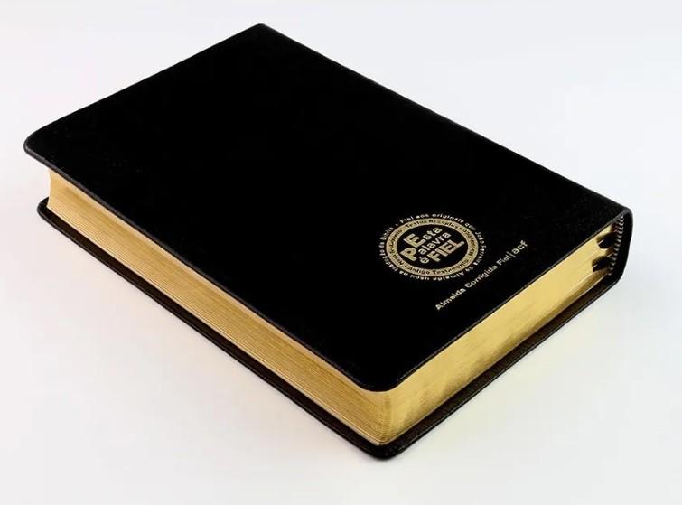 Bíblia Sagrada Acf - Super Legível  - Couro Legítimo