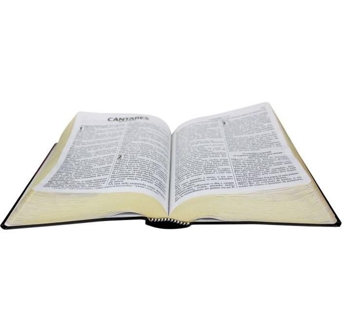 Bíblia Sagrada com Harpa Cristã - Letra Gigante com Letras Vermelhas, Notas e Referências