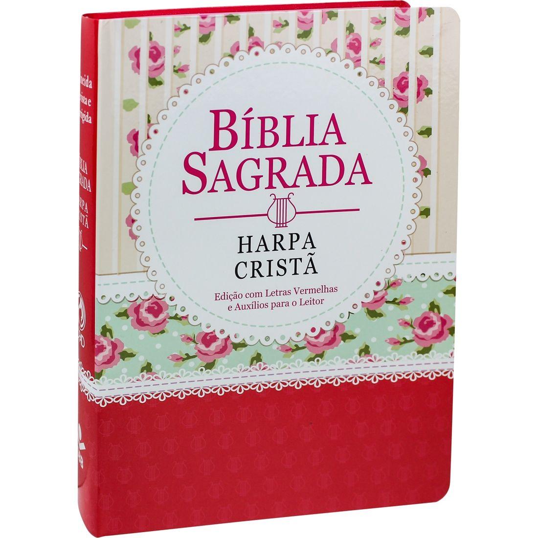Bíblia Sagrada com Harpa Cristã - Letra Gigante - Florida Renda