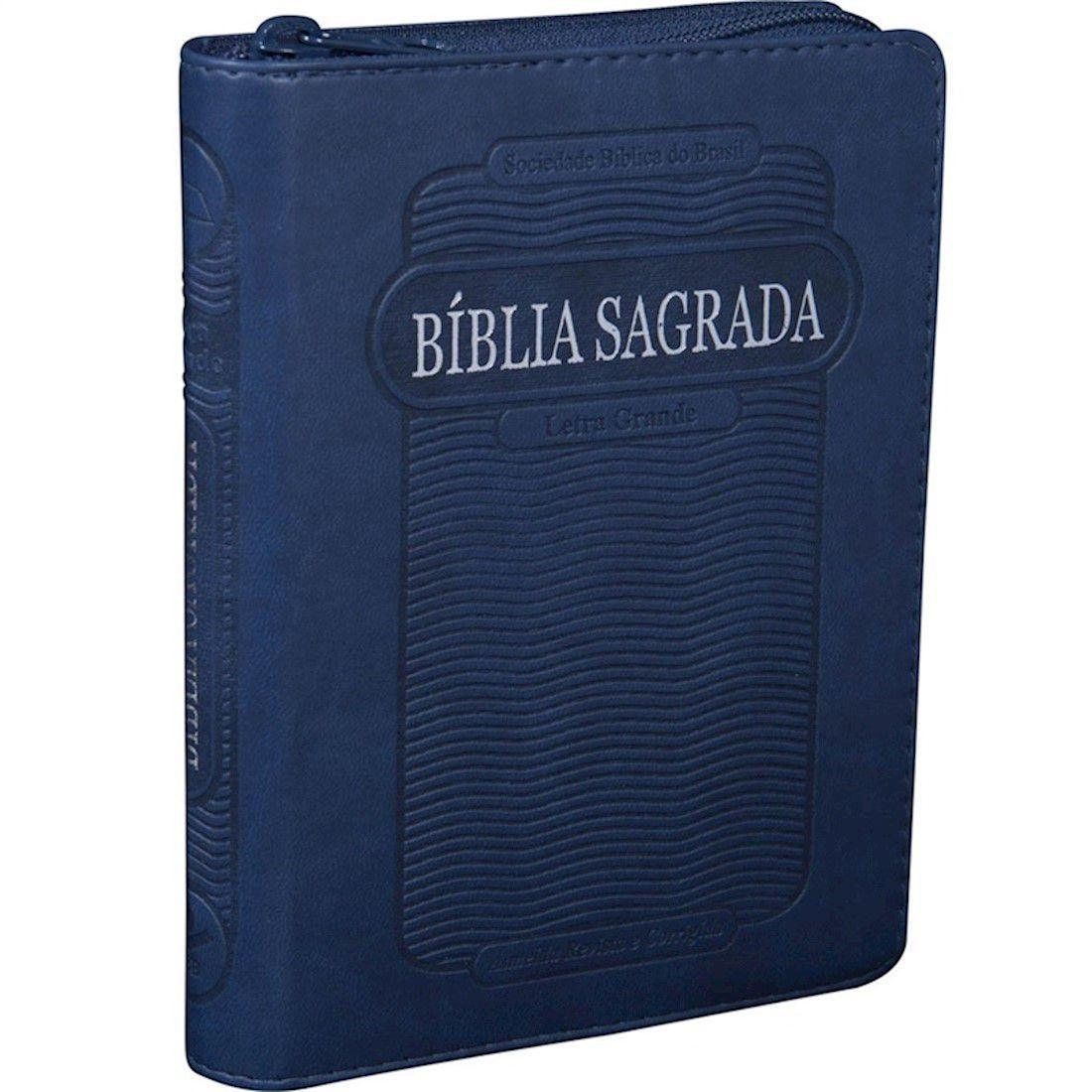 Bíblia Sagrada com Zíper RC - Letra Grande