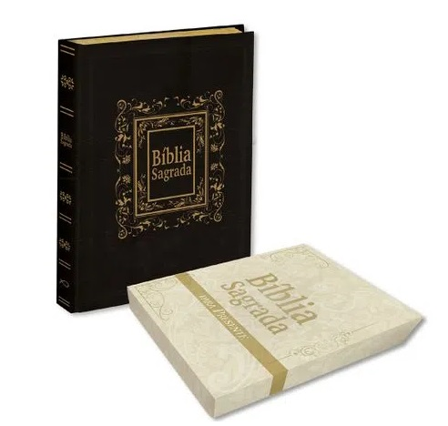 Bíblia Sagrada Para Púlpito - Capa Luxo Preta