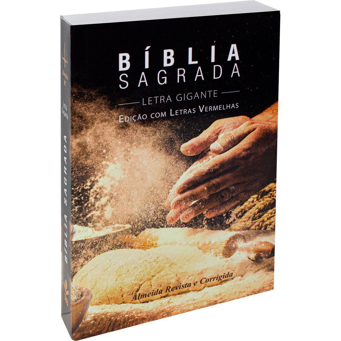 Bíblia Sagrada RC Letra Gigante Com Letras Vermelhas - Pão