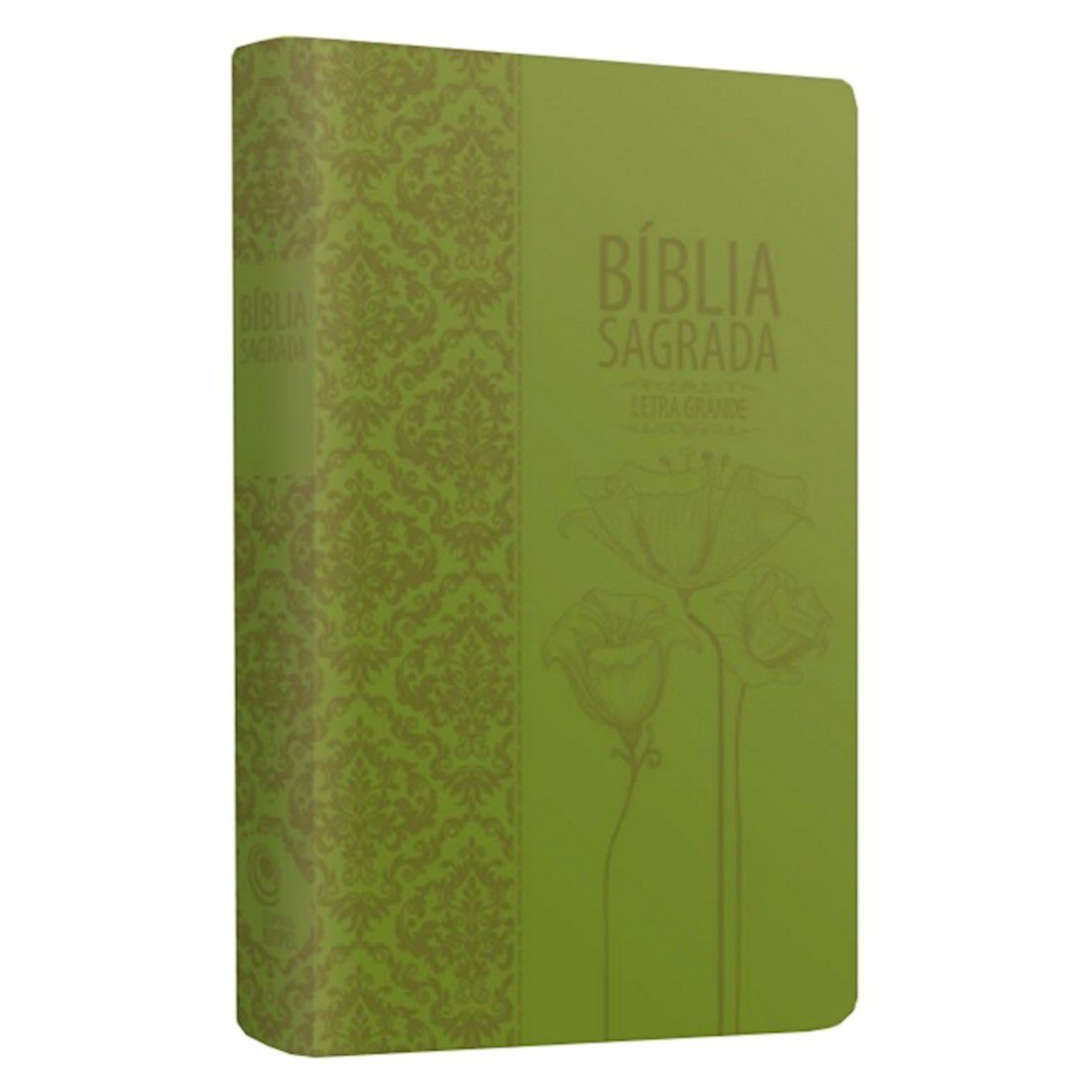 Bíblia Sagrada Tulipas - Verde