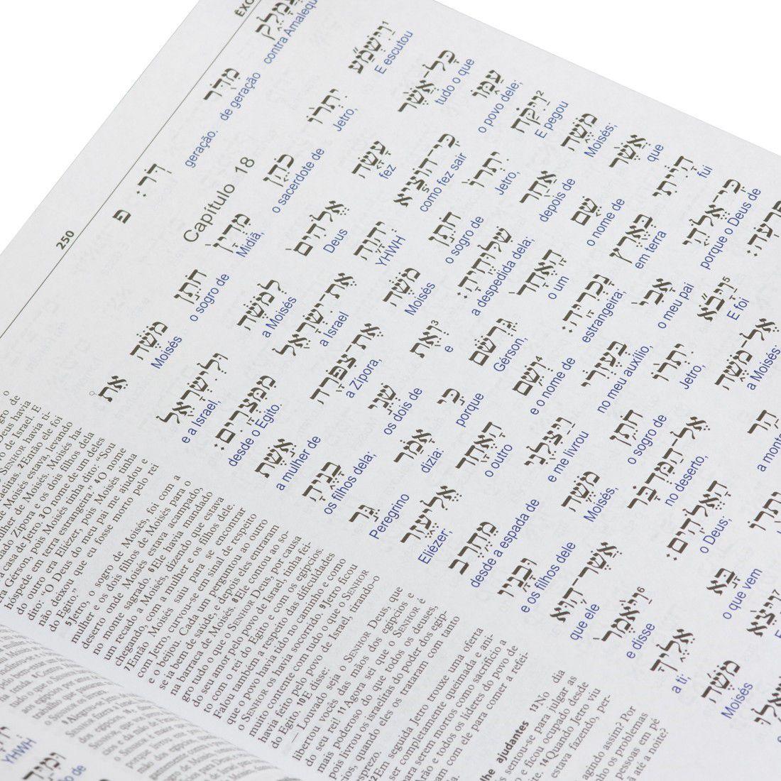 Livro Antigo Testamento Interlinear Hebraico-Português Volume 1