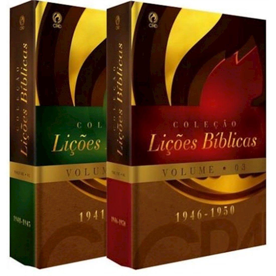Livro Coleção Lições Bíblicas (1941 - 1950) - Volumes 02 e 03
