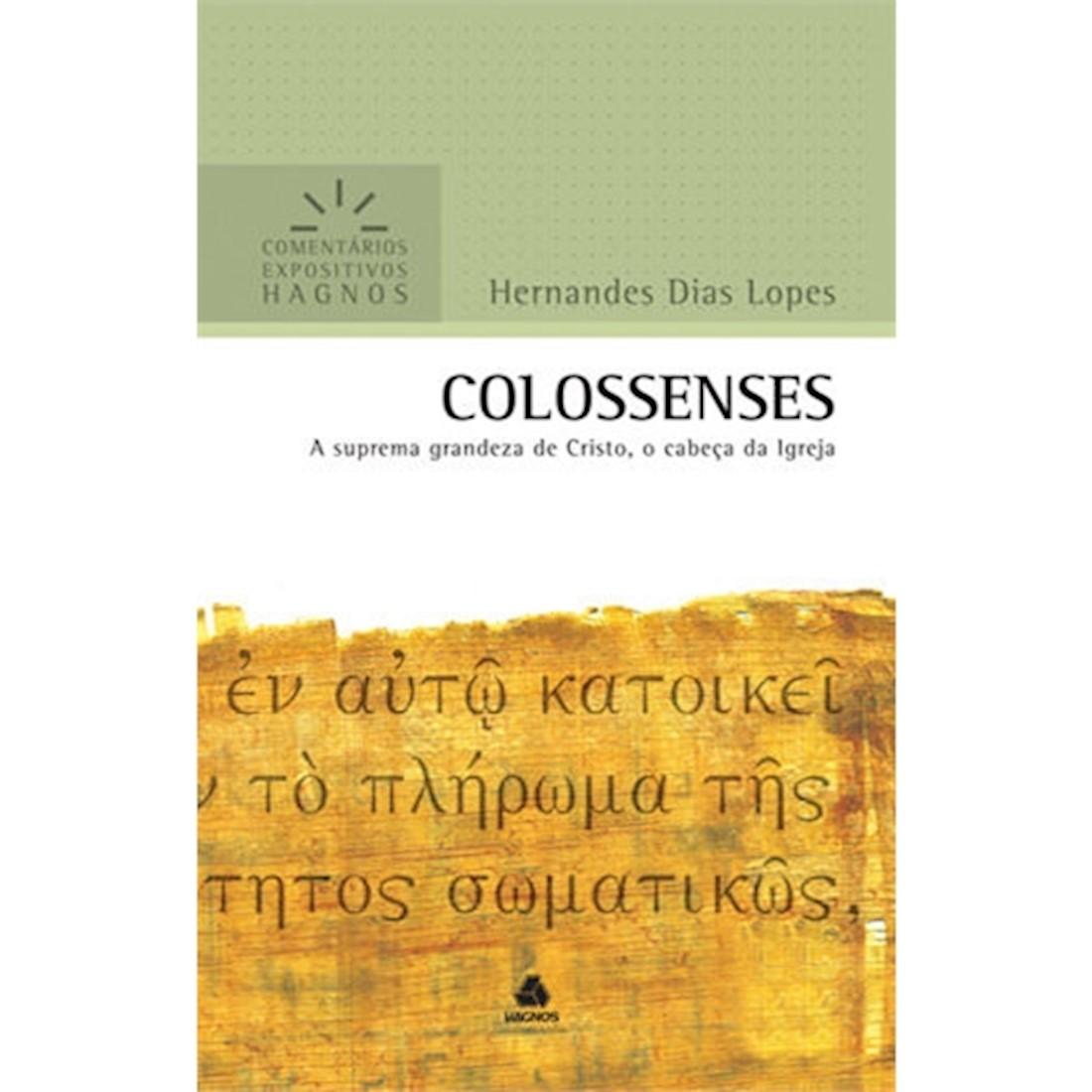 Livro Colossenses   Comentários Expositivos Hagnos