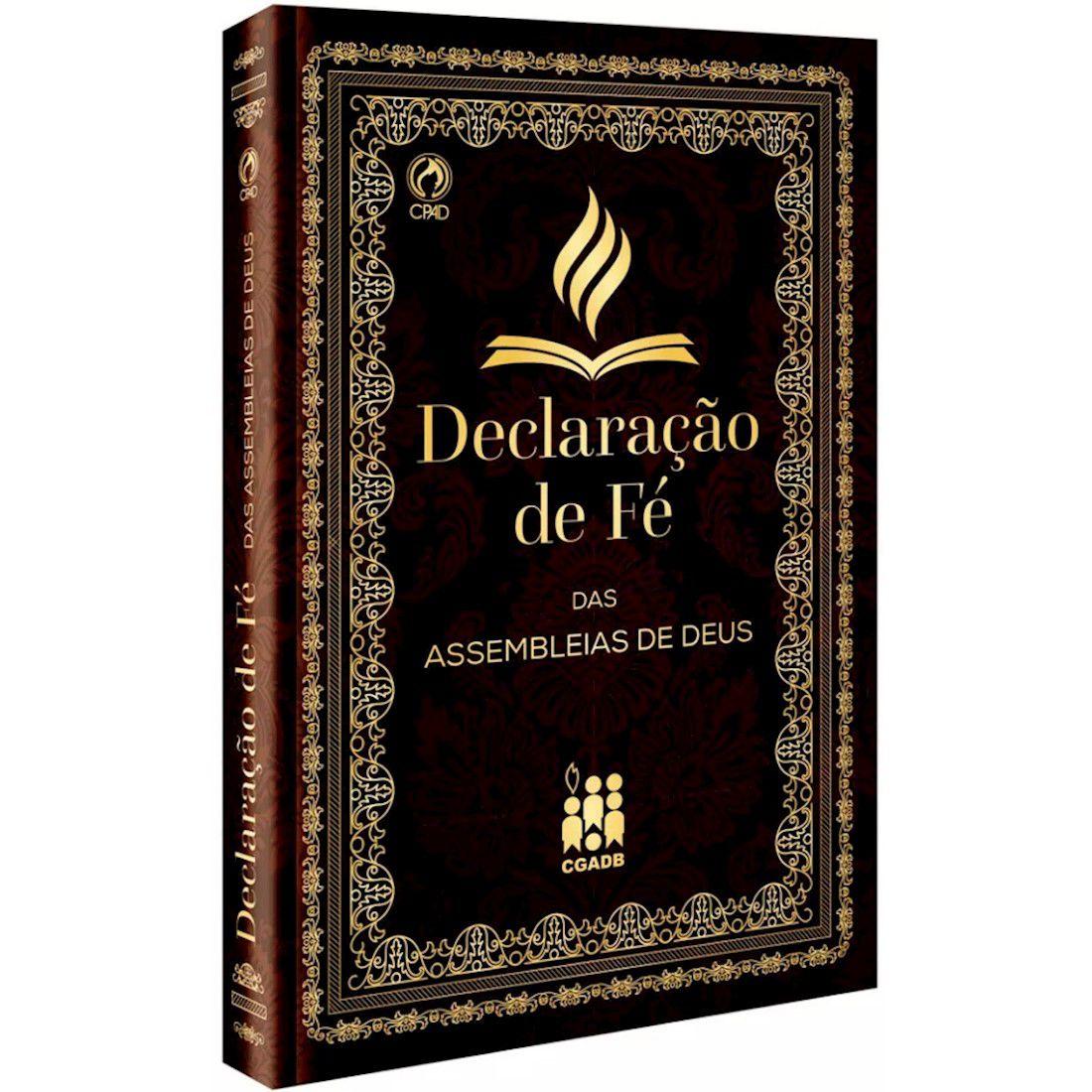 Livro Declaração de Fé das Assembleias de Deus Capa Dura