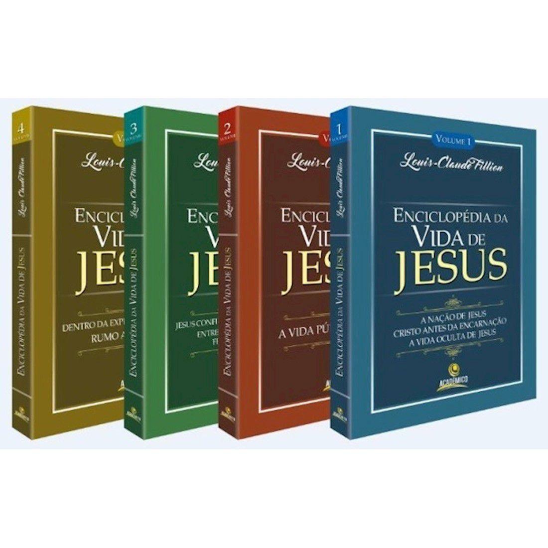Livro Enciclopédia da Vida de Jesus - 4 Volumes