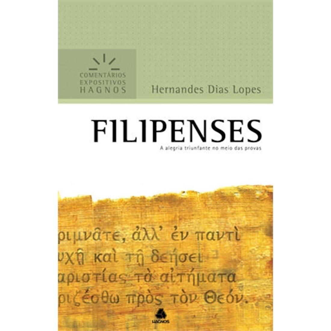 Livro Filipenses   Comentários Expositivos Hagnos
