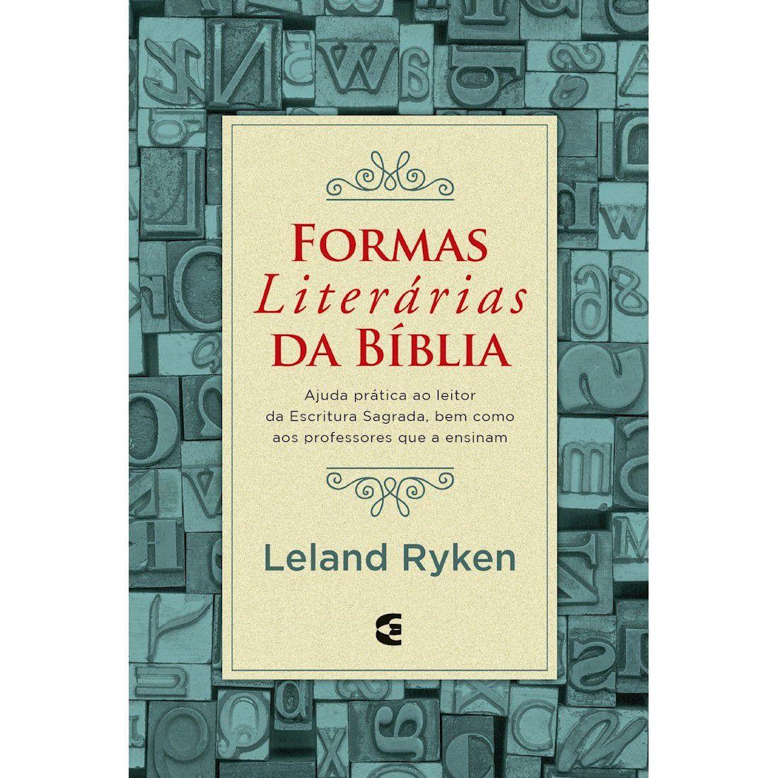 Livro Formas Literárias da Bíblia