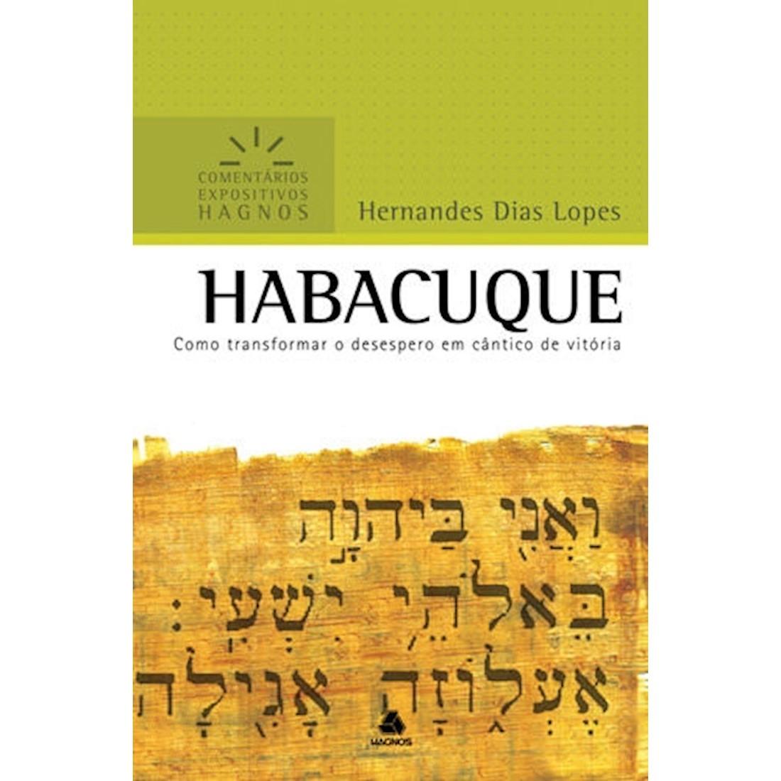 Livro Habacuque   Comentários Expositivos Hagnos