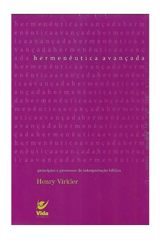 Livro Hermenêutica Avançada