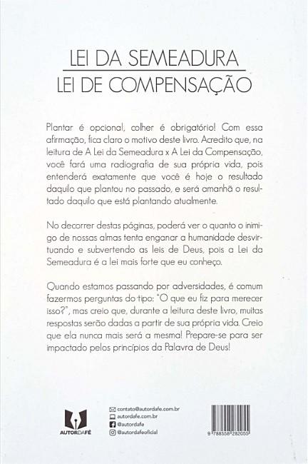Livro Lei da Semeadura x Lei da Compensação