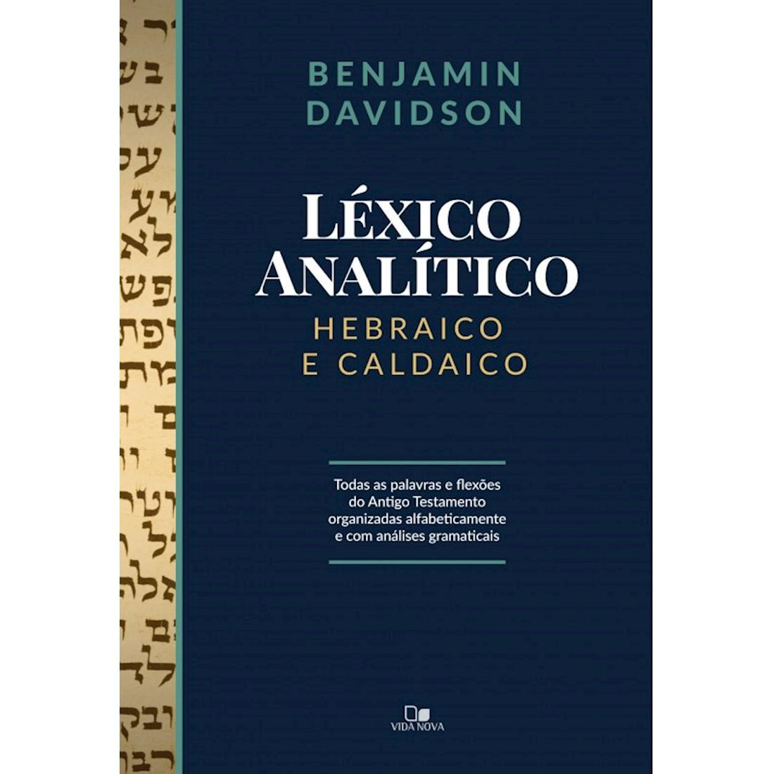 Livro Léxico Analítico Hebraico e Caldaico