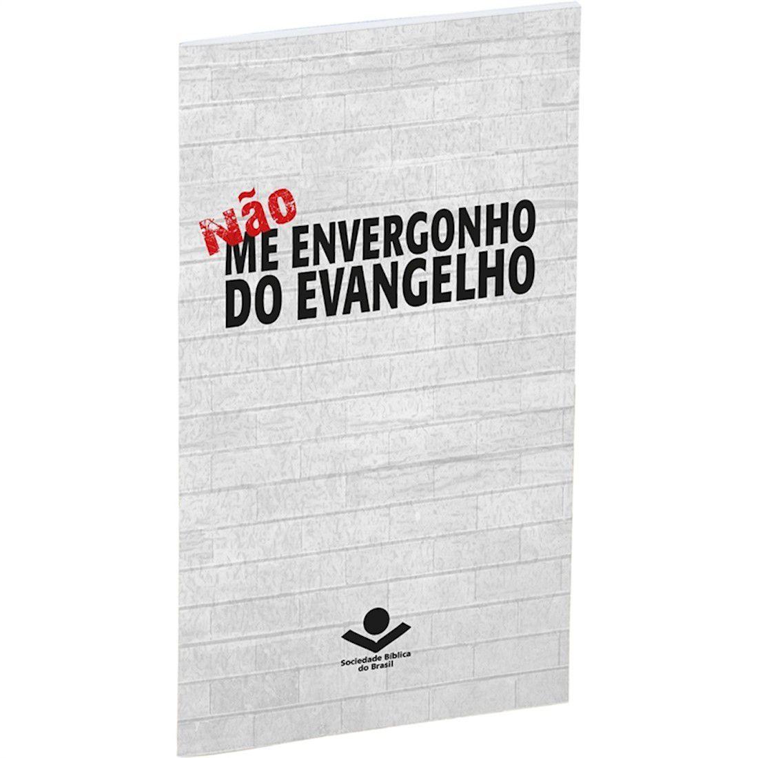 Livro Não Me Envergonho do Evangelho - Capa Brochura Ilustrada