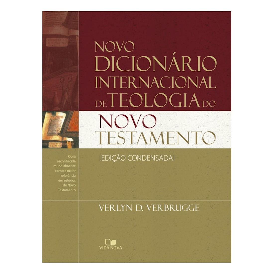 Livro Novo Dicionário Internacional de Teologia do NT - Ed. Condensada