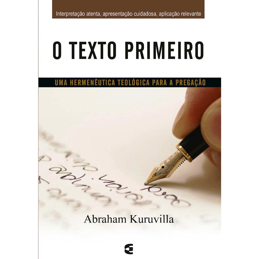 Livro O Texto Primeiro