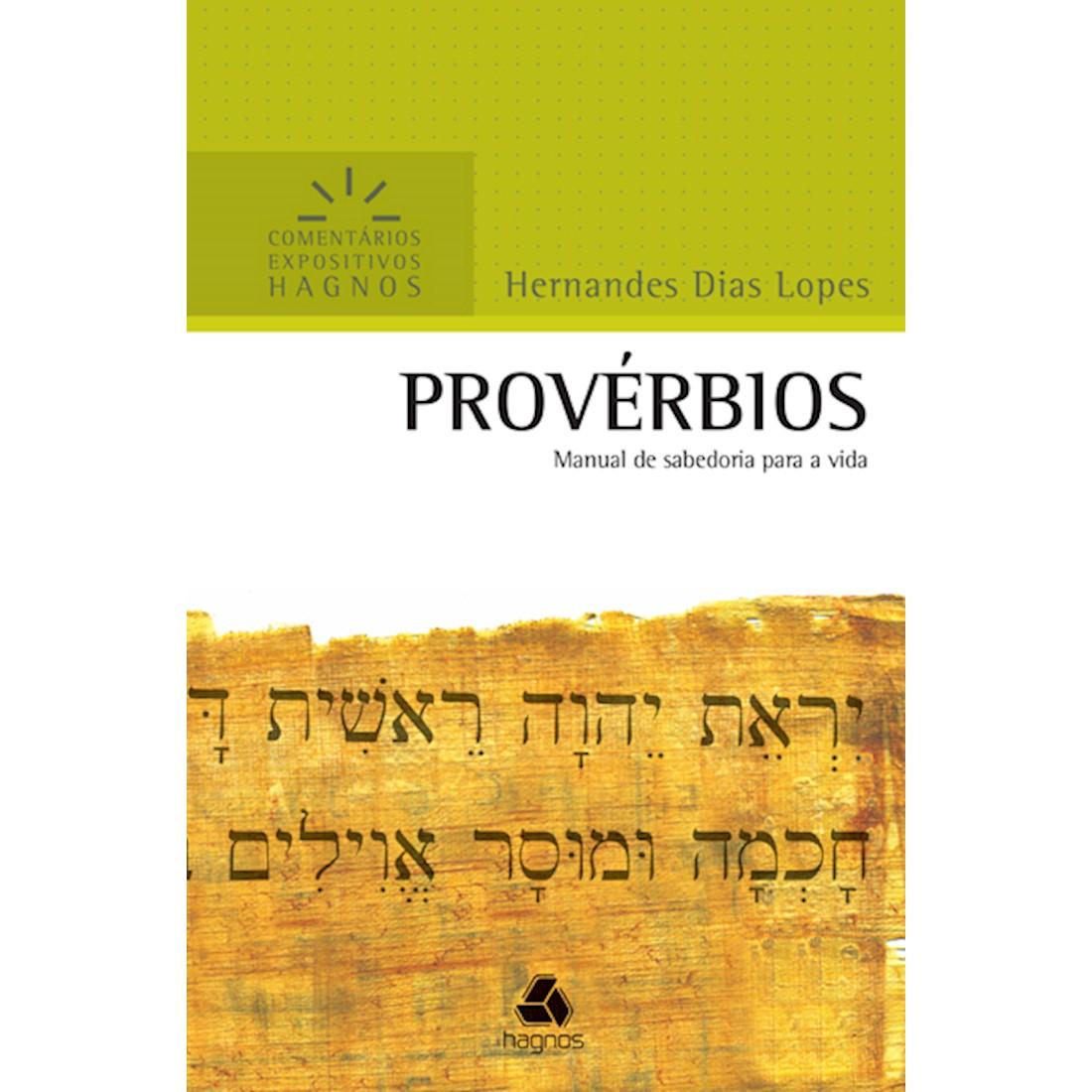 Livro Provérbios   Comentários Expositivos Hagnos