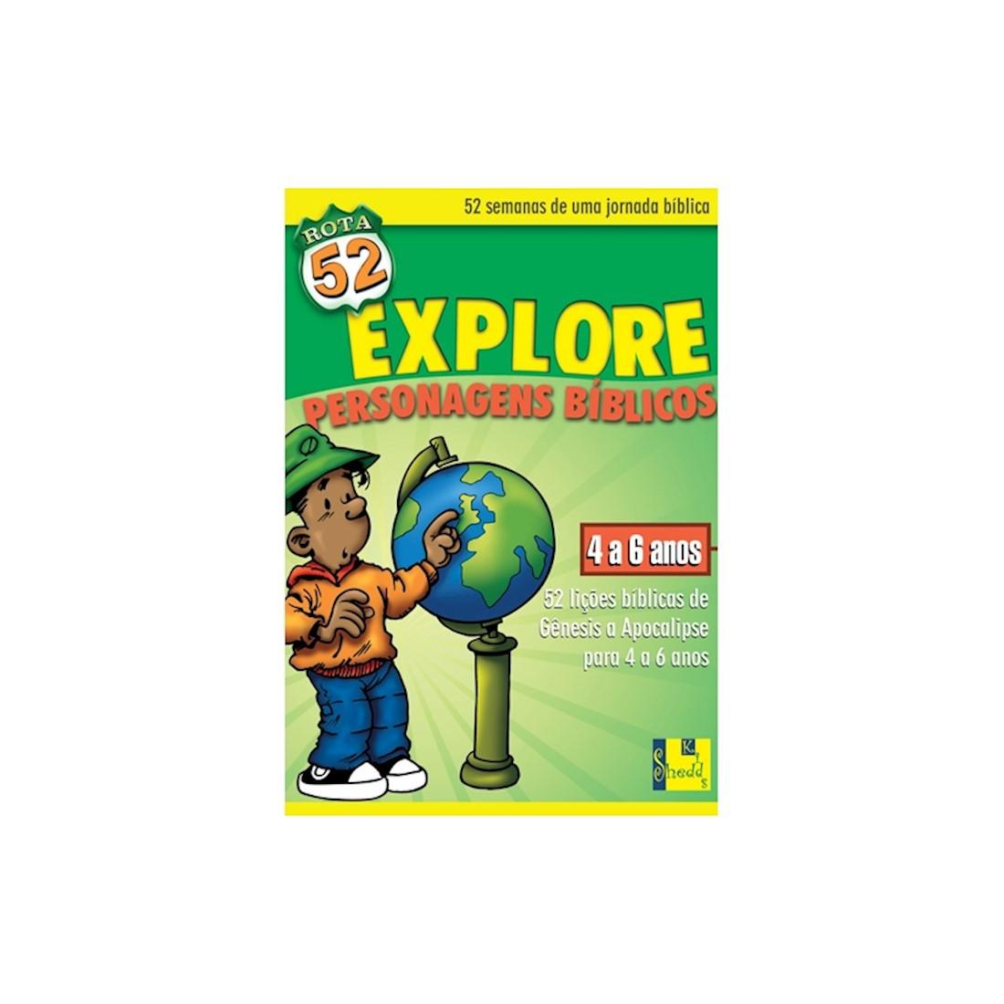 Livro Rota 52 - Explore Personagens Bíblicos