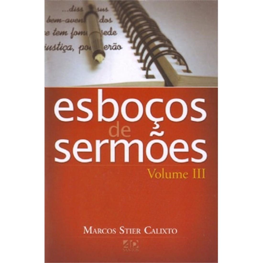 Livro Série Esboços de Sermões - Vol. III