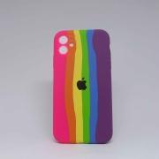 Capa iPhone 11 Autêntica Arco-Íris 2