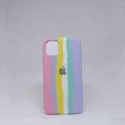 Capa iPhone 11 Autêntica Arco-Íris Algodão