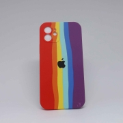 Capa iPhone 12 Autêntica Arco-Íris