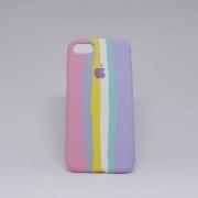 Capa iPhone 7/8 Autêntica Arco-Íris Algodão