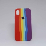 Capa iPhone XR Autêntica Arco-Íris