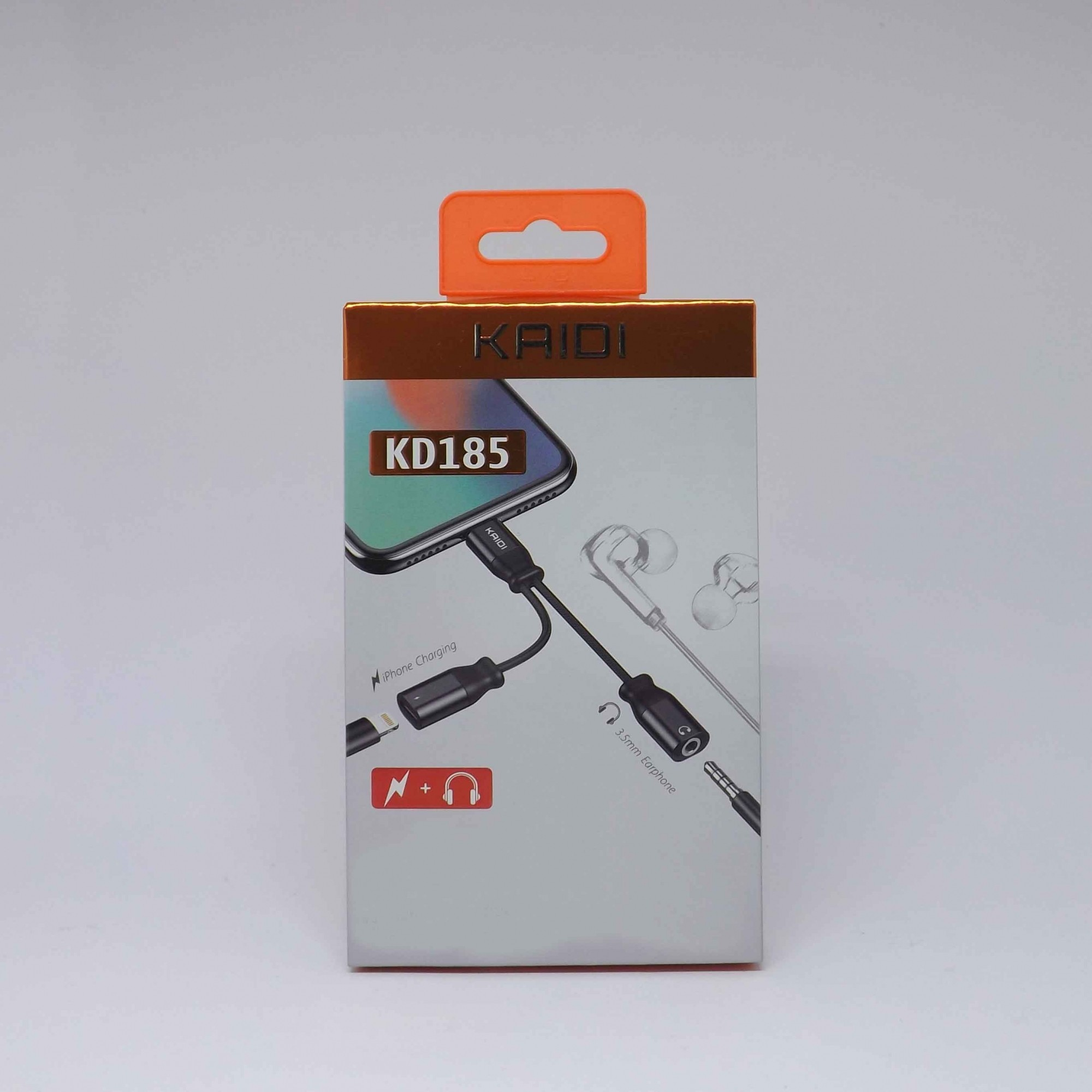 Adaptador iPhone Fone P2 e Carregadpr Kd185 - Kaidi