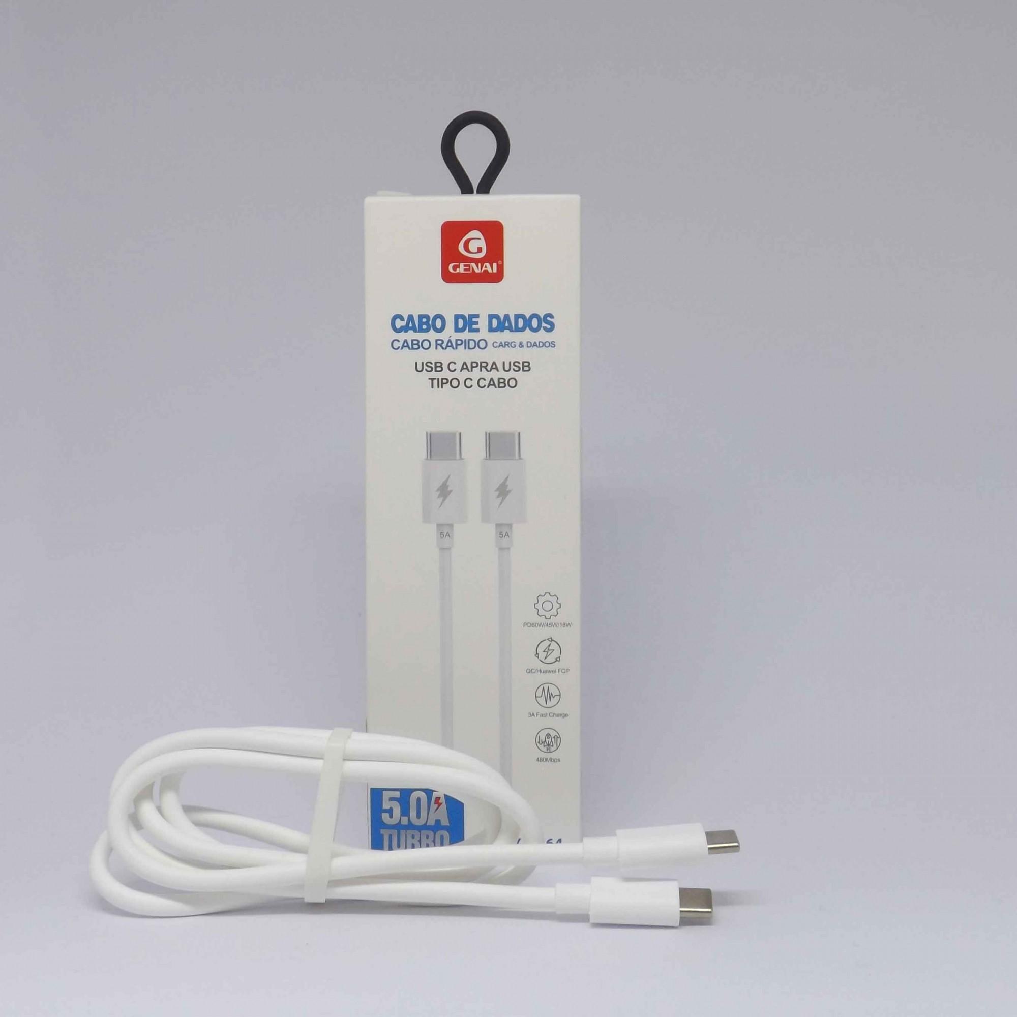 Cabo de Dados e Carregamento USB C para TiPO C
