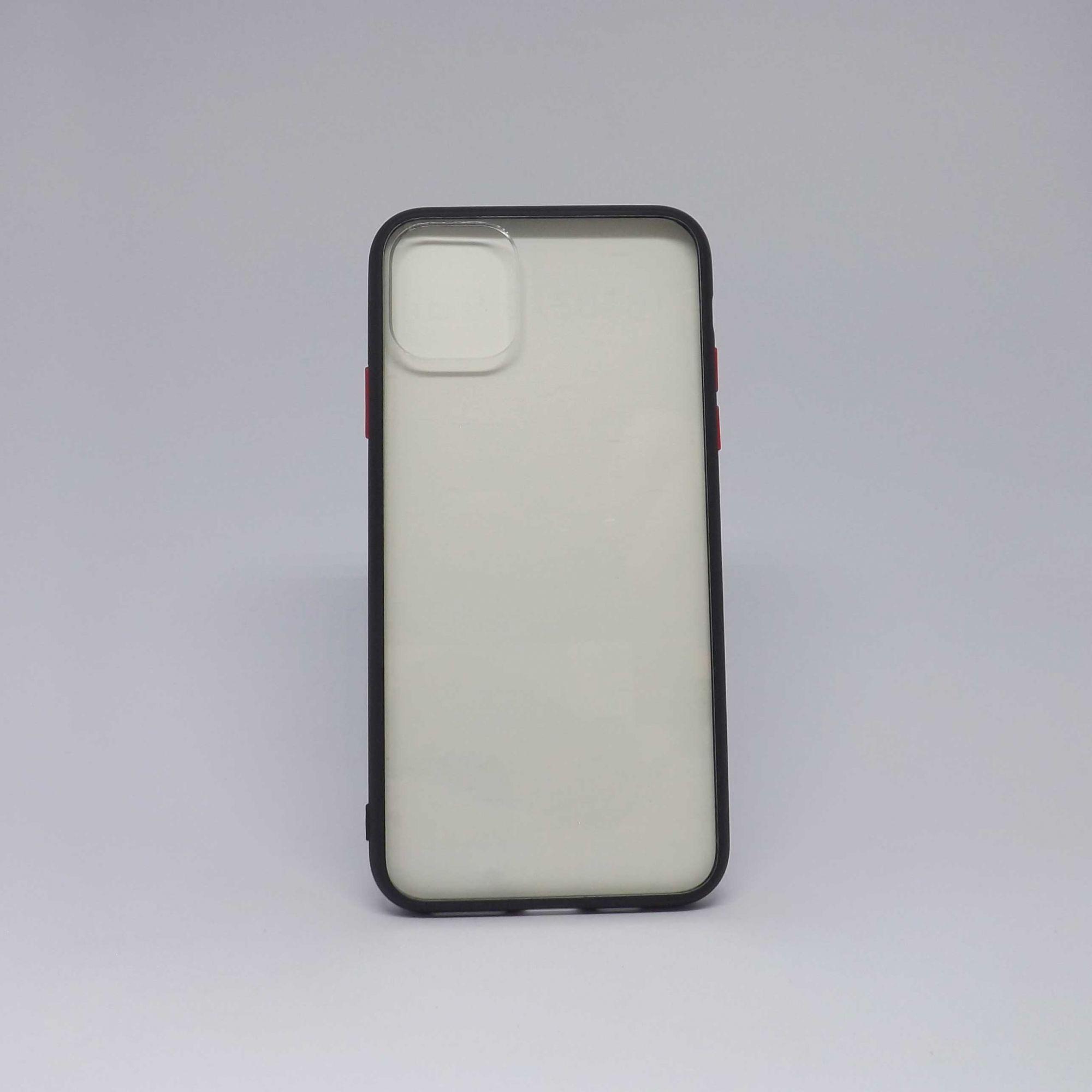 Capa iPhone 11 Pro Max Transparente com Borda Colorida
