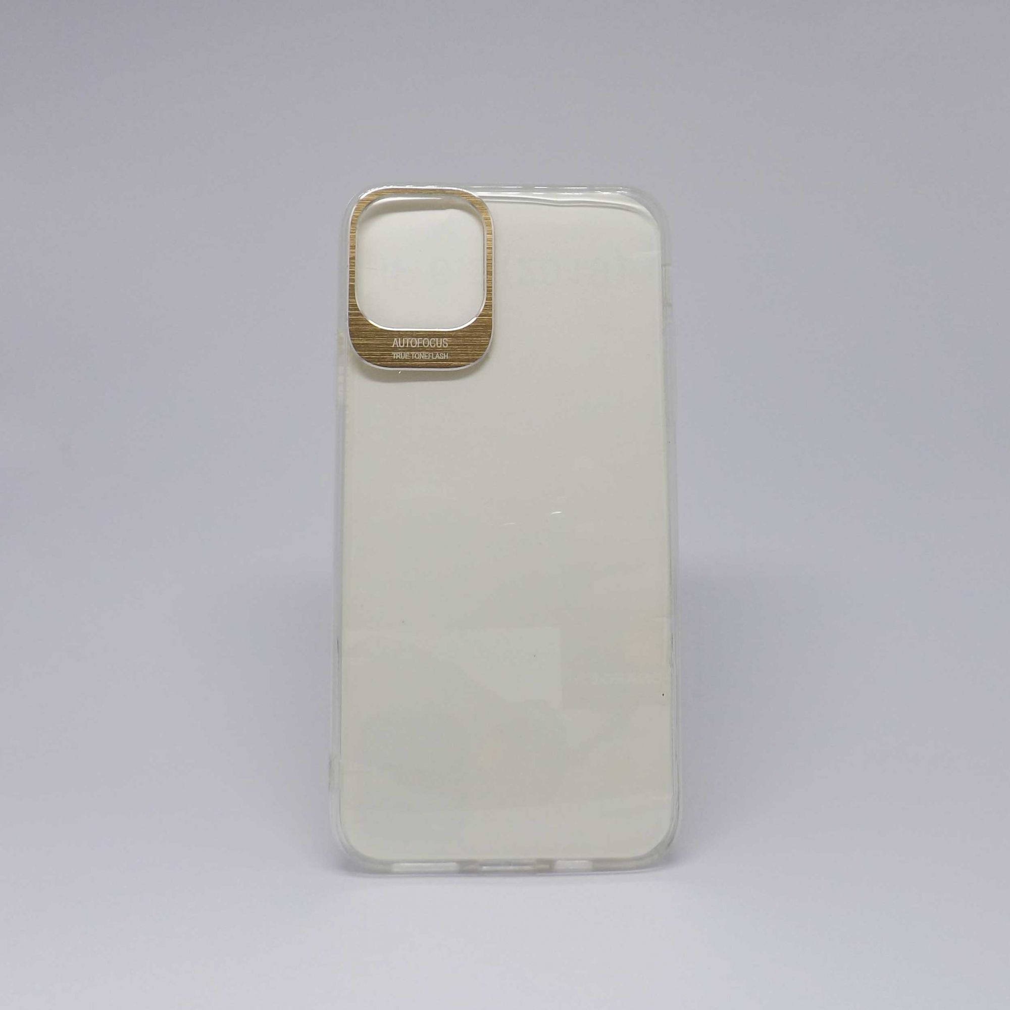 Capa iPhone 11 Pro Max Antiqueda Transparente com Borda Metalizada