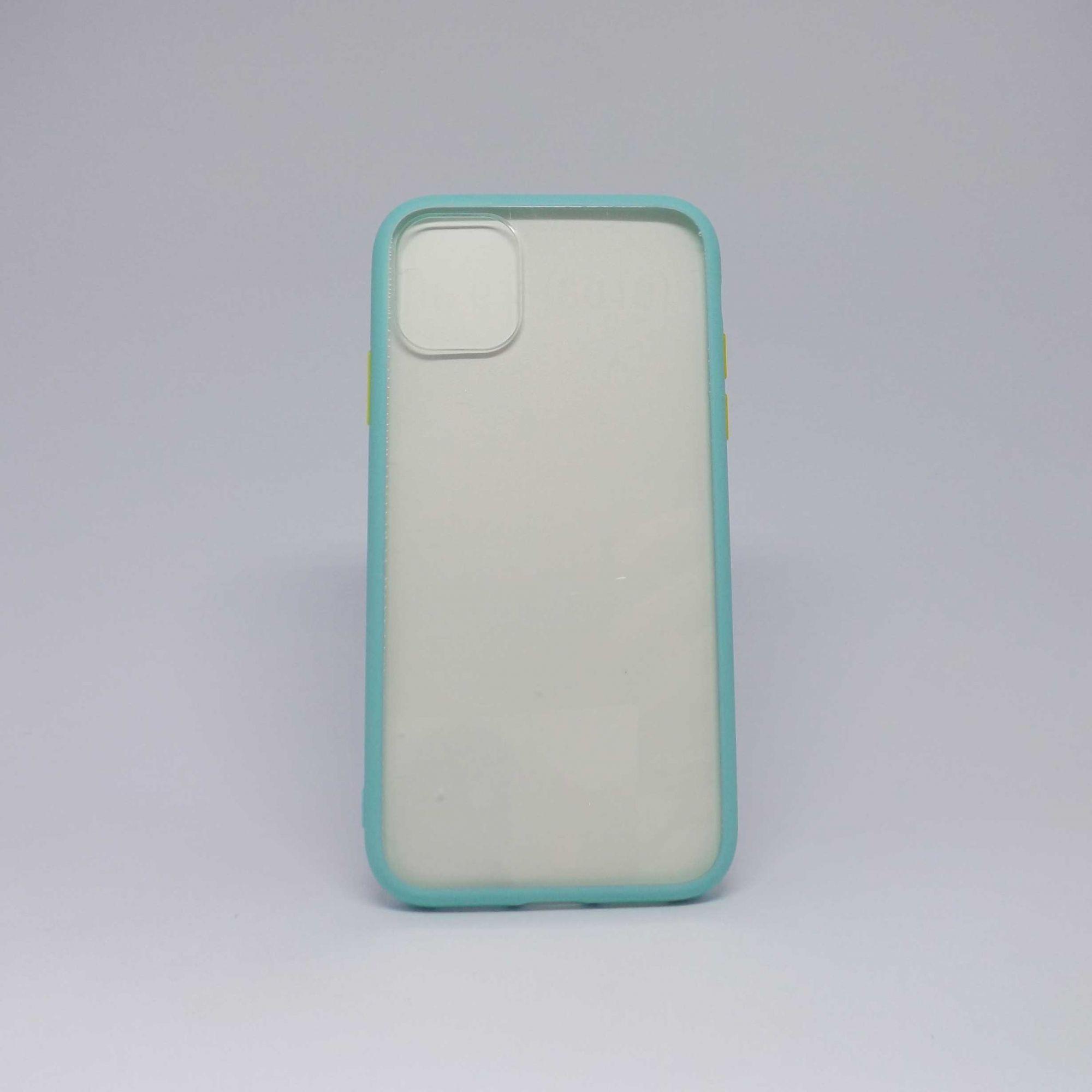 Capa Iphone 11 Transparente Com Borda Colorida