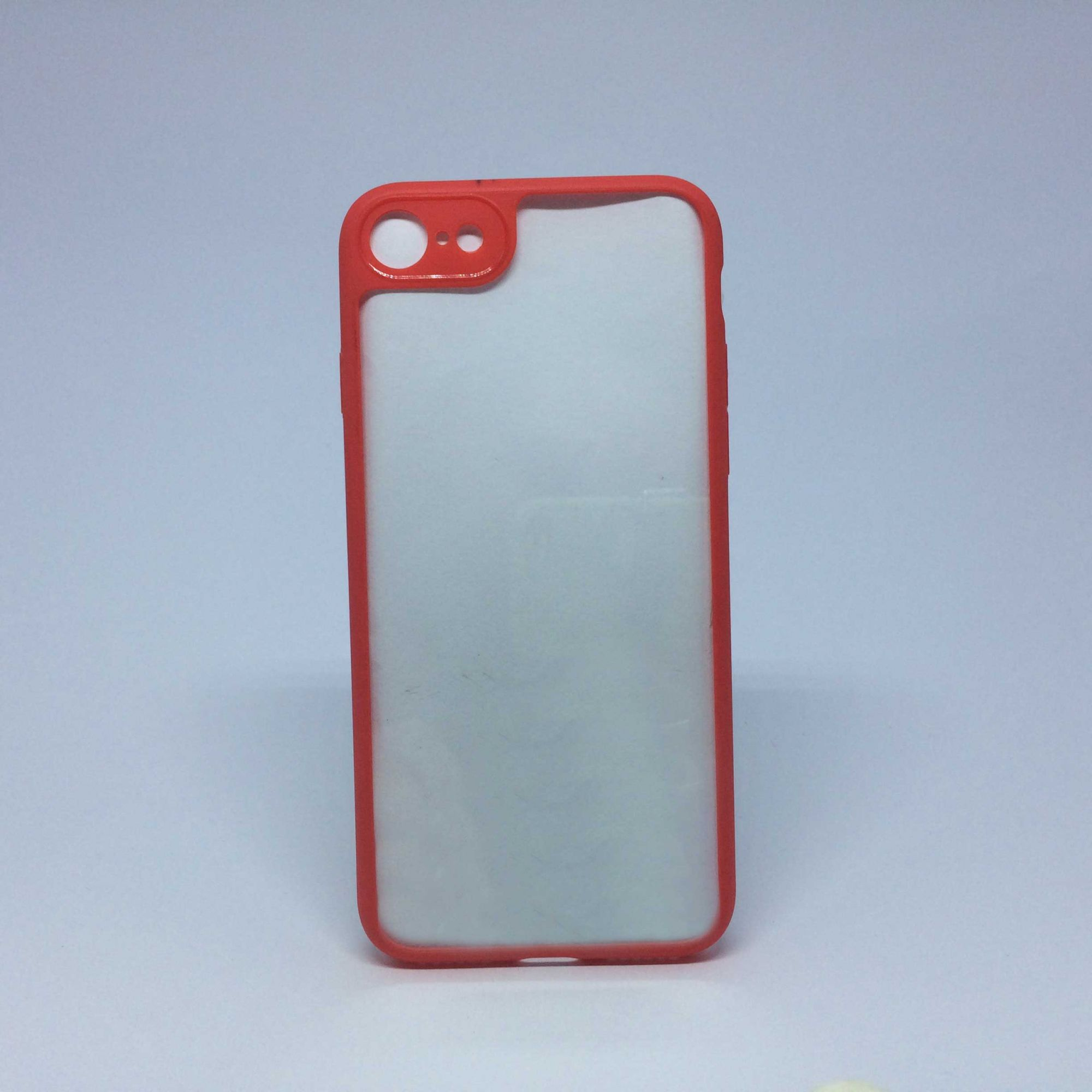 Capa Iphone 5s/SE  Transparente com Borda Colorida