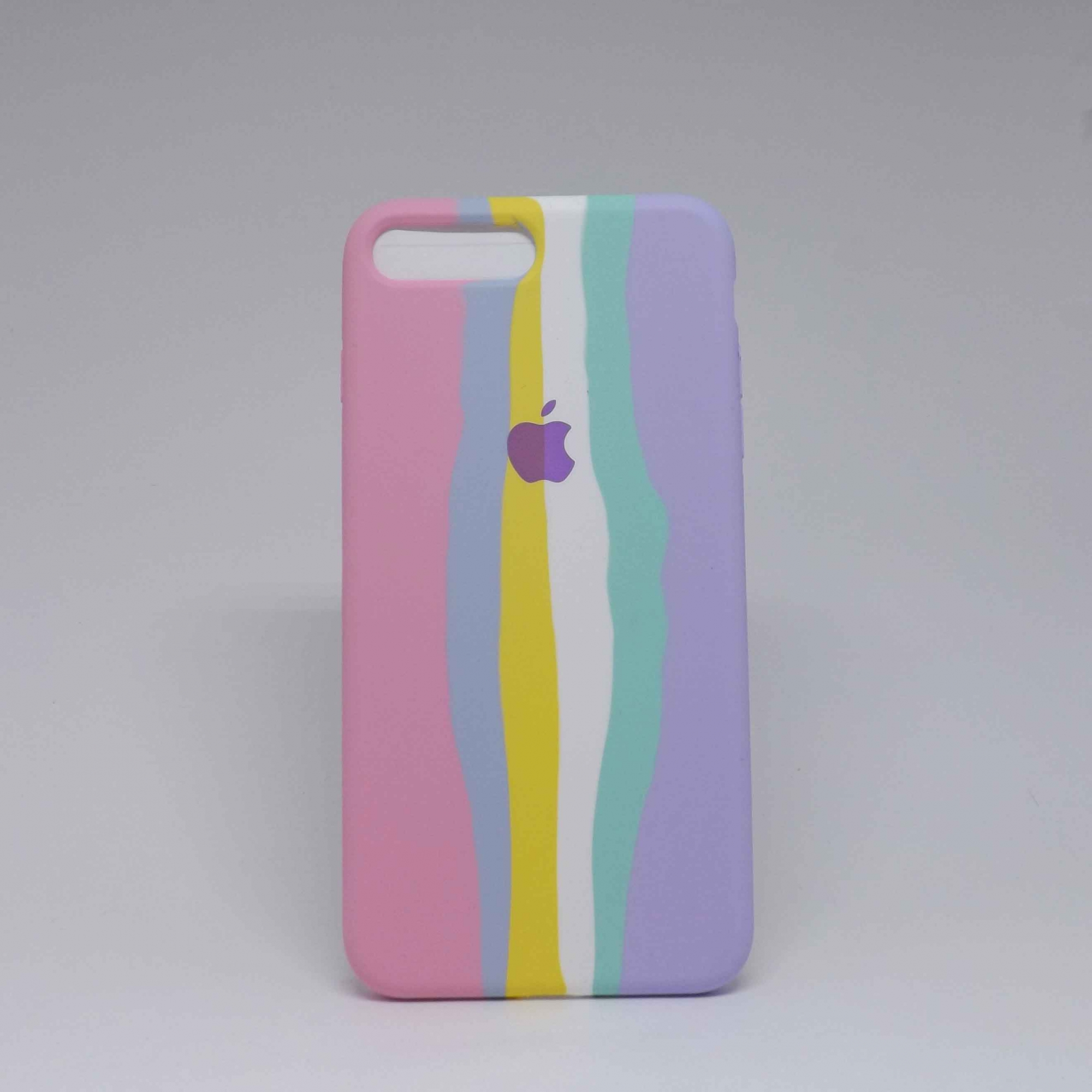 Capa iPhone 7/8 Plus Autêntica Arco-Íris Algodão