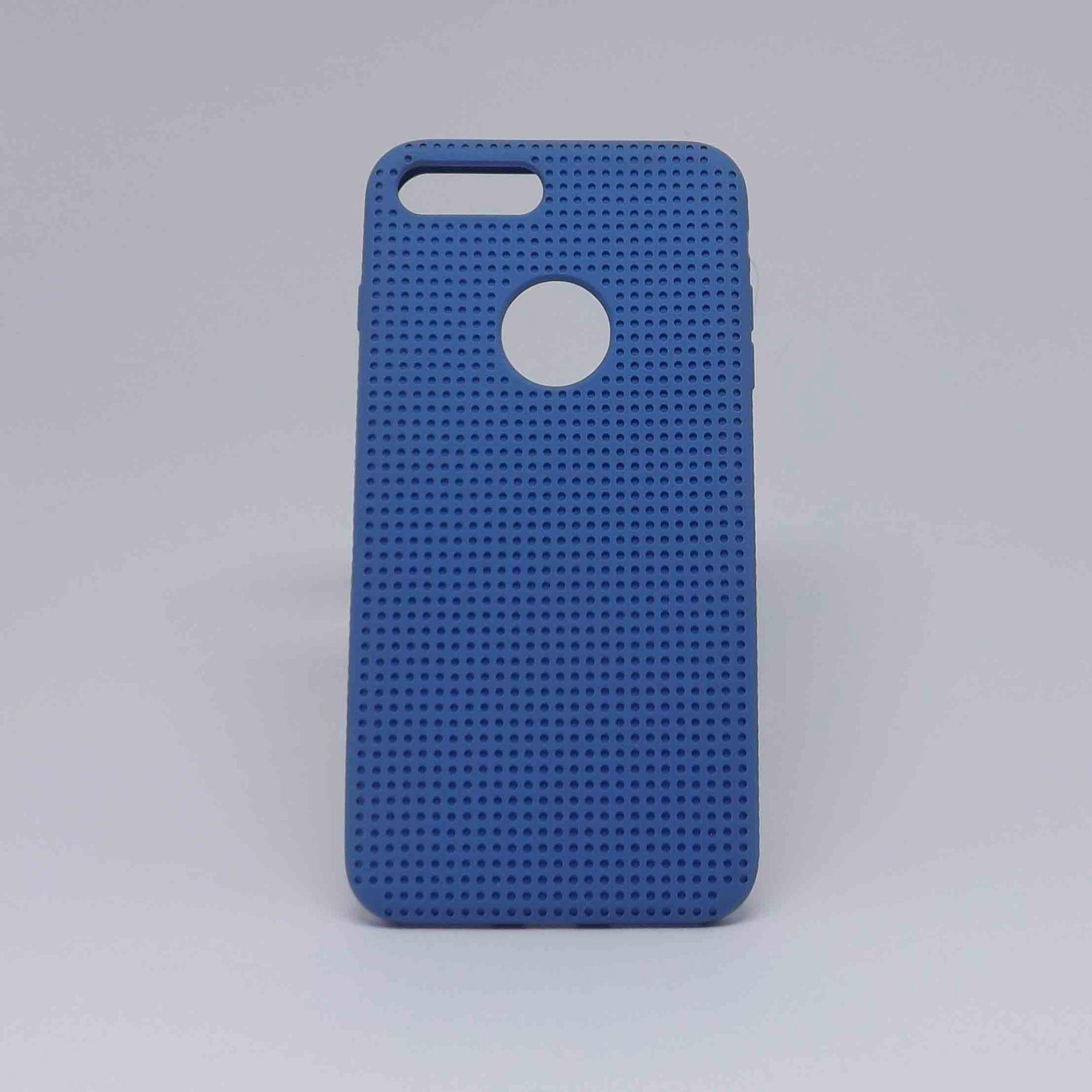 Capa iPhone 7/8 Plus Borracha com Furinhos