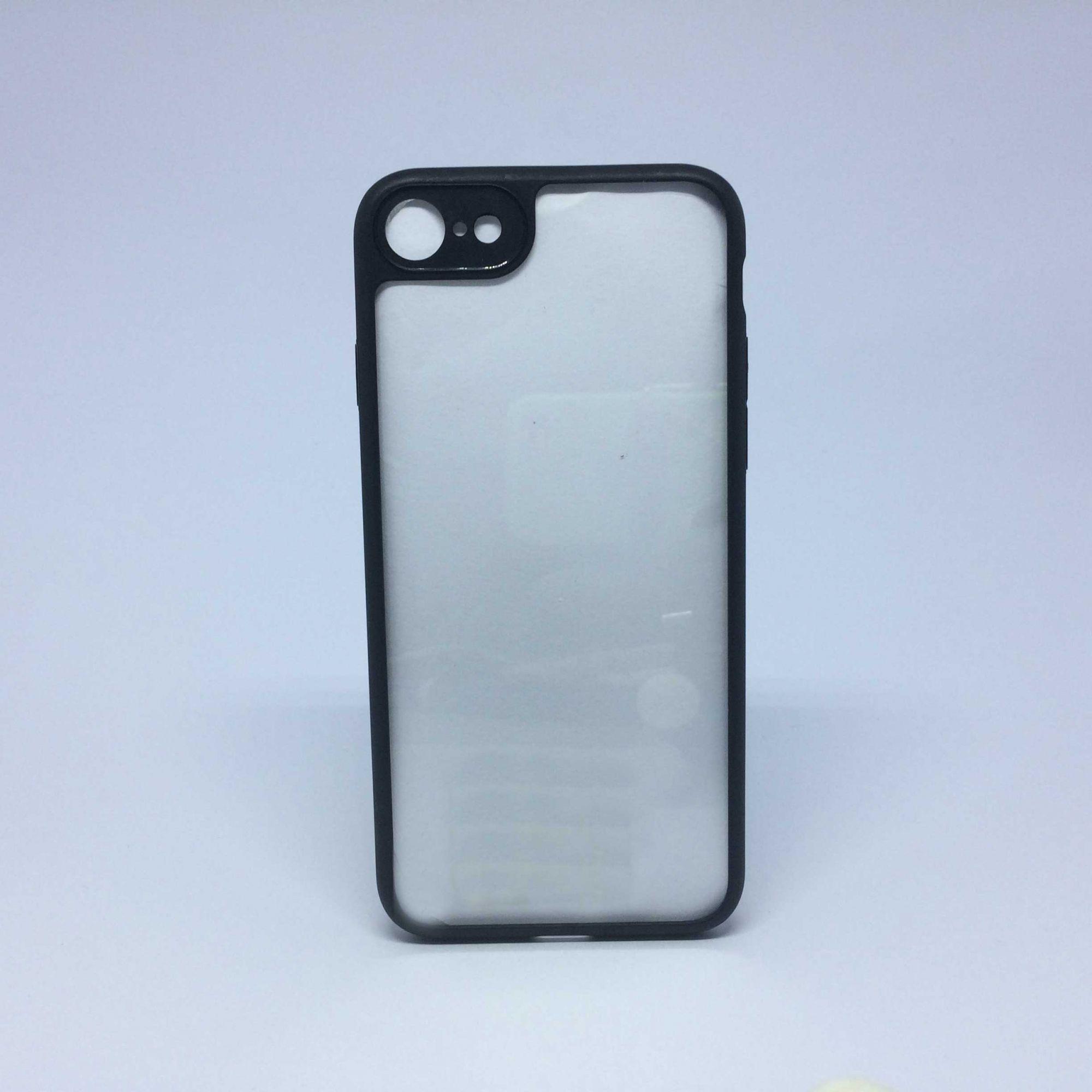 Capa iPhone 7/8 Transparente com Borda Colorida