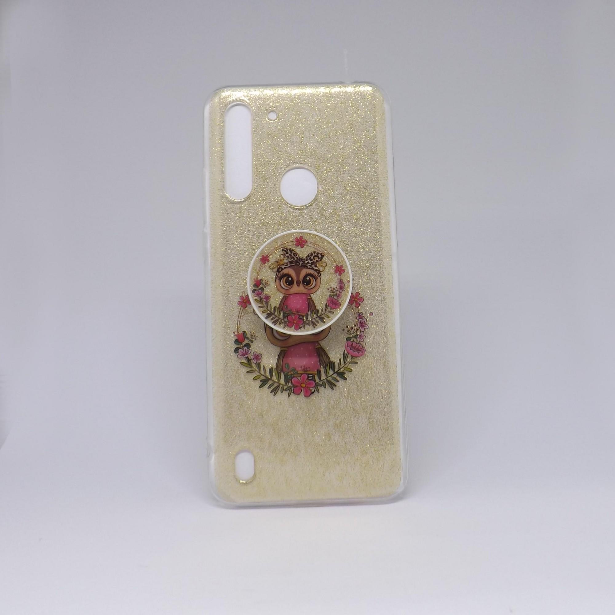 Capa Motorola G8 Power Lite Glitter com Pop Case