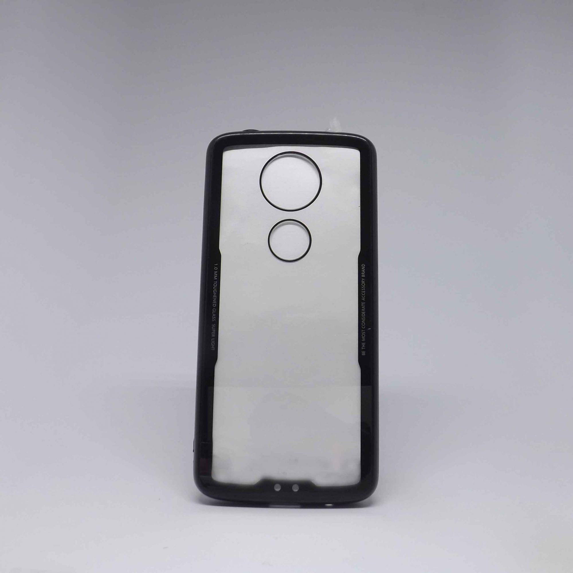Capa Motorola Moto E5 Plus Transparente com Borda Colorida