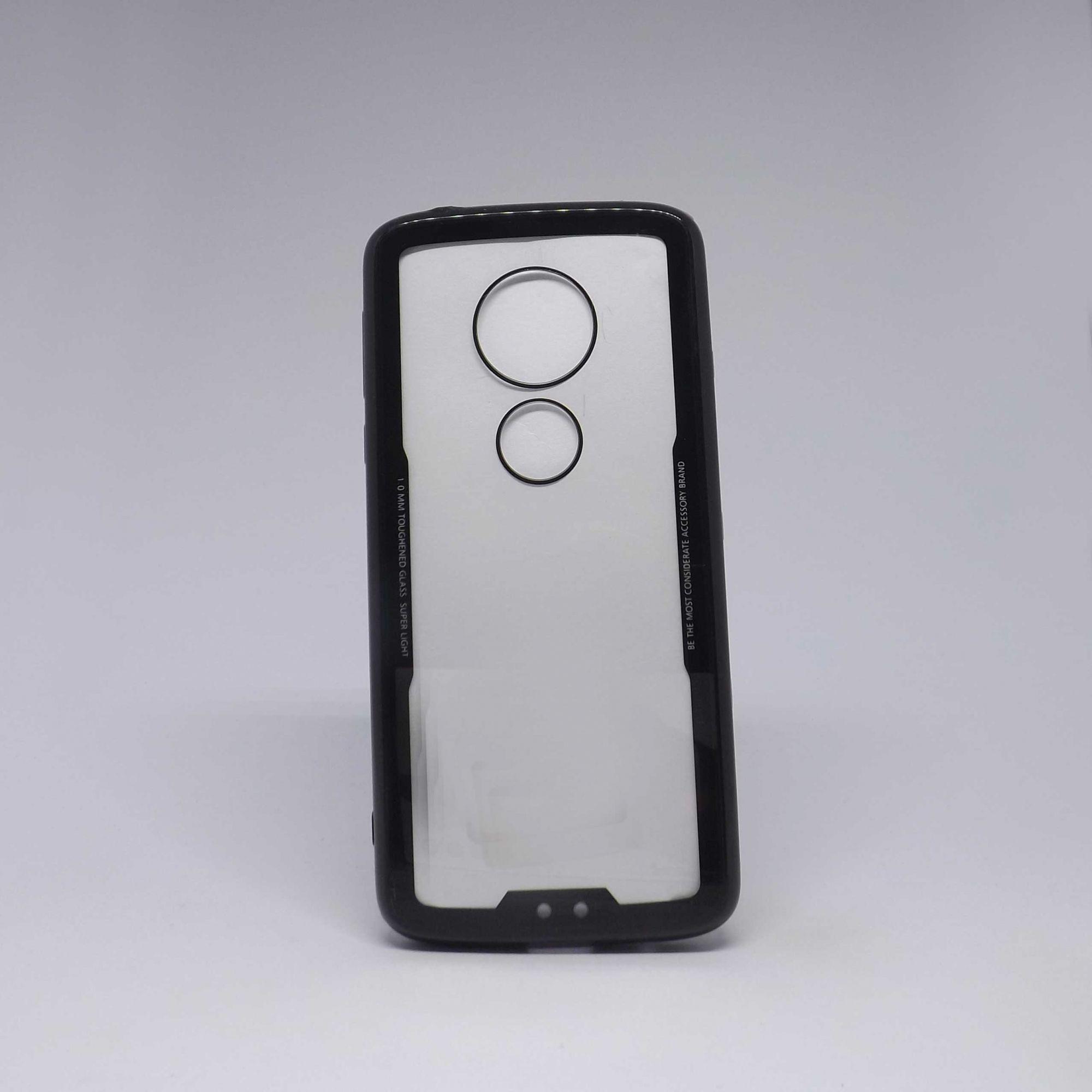 Capa Motorola G6 Play Transparente com Borda Colorida