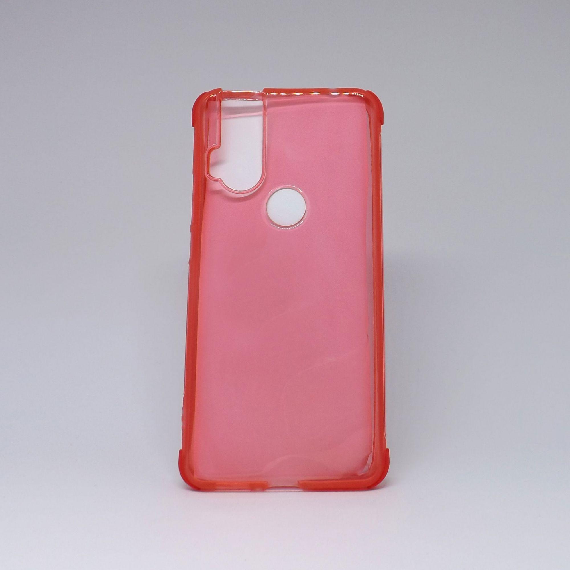 Capa Motorola One Hyper Transparente com Borda Colorida